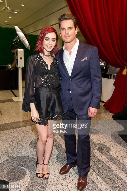Actors Lily Collins and Matt Bomer arrive at Sony Pictures Television Social Soiree Featuring Amazon Pilots 'The Last Tycoon' And 'The Interestings'...
