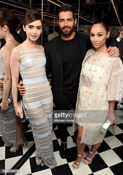 Actors Lily Collins Jesse Metcalfe and Cara Santana attend W Magazine Celebrates the Best Performances Portfolio and the Golden Globes with Audi and...