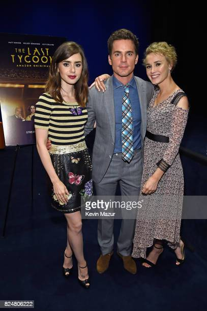 Actors Lily Collins Matt Bomer and Dominique McElligott The Last Tycoon New York Special Screening VIP Reception at the Whitby Hotel on July 25 2017...