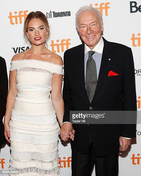 Actors Lily James and Christopher Plummer attend the premiere of 'The Exception' during the 2016 Toronto International Film Festival at Winter Garden...