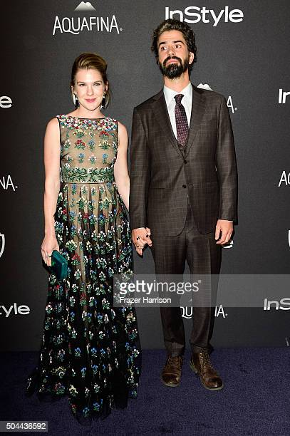 Actors Lily Rabe and Hamish Linklater attend InStyle and Warner Bros 73rd Annual Golden Globe Awards PostParty at The Beverly Hilton Hotel on January...