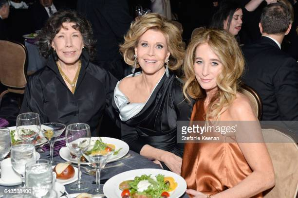 Actors Lily Tomlin Jane Fonda and Costume designer Allyson B Fanger attend The 19th CDGA with Presenting Sponsor LACOSTE at The Beverly Hilton Hotel...