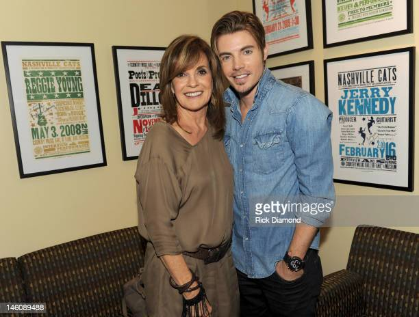 Actors Linda Gray and Josh Henderson attend TNT's Dallas screening and cast appearance Country Music Hall of Fame and Museum at the CMA Music...