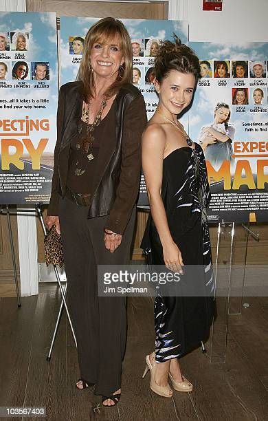 Actors Linda Gray and Oleysa Rulin attend the premiere of 'Expecting Mary' at the Crosby Street Hotel on August 23 2010 in New York City
