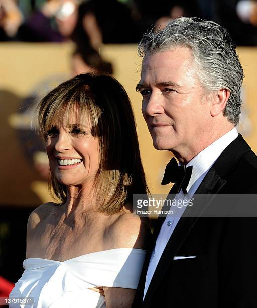 Actors Linda Gray and Patrick Duffy arrive at the 18th Annual Screen Actors Guild Awards at The Shrine Auditorium on January 29 2012 in Los Angeles...