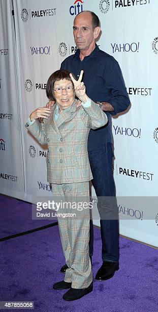 Actors Linda Hunt and Miguel Ferrer attend The Paley Center for Media's PaleyFest 2015 Fall TV Preview of NCIS Los Angeles at The Paley Center for...