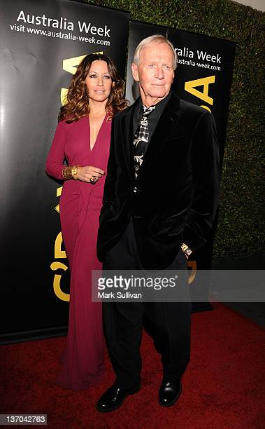 Actors Linda Kozlowski and Paul Hogan arrives for The 9th annual G'Day USA Los Angeles Black Tie Gala at the Grand Ballroom at Hollywood Highland...