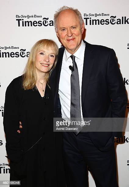 Actors Lindsay Duncan and John Lithgow attend TimesTalks Presents An Evening With The Cast Of 'A Delicate Balance' at The Times Center on December 8...