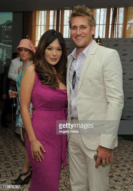 Actors Lindsay Price and Curtis Stone attend the DROID Charge by Samsung Kentucky Derby viewing party hosted by Samsung and Verizon at Palihouse...
