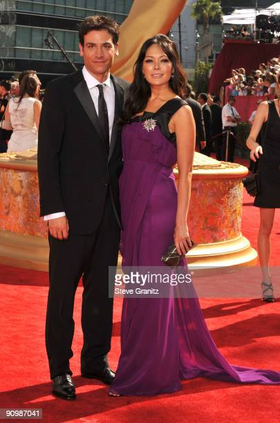 Actors Lindsay Price and Josh Radnor arrive at the 61st Primetime Emmy Awards held at the Nokia Theatre on September 20 2009 in Los Angeles California