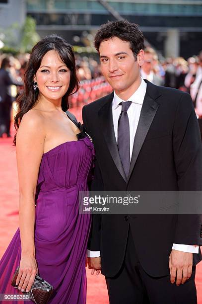 Actors Lindsay Price and Josh Radnor arrives at the 61st Primetime Emmy Awards held at the Nokia Theatre on September 20 2009 in Los Angeles...