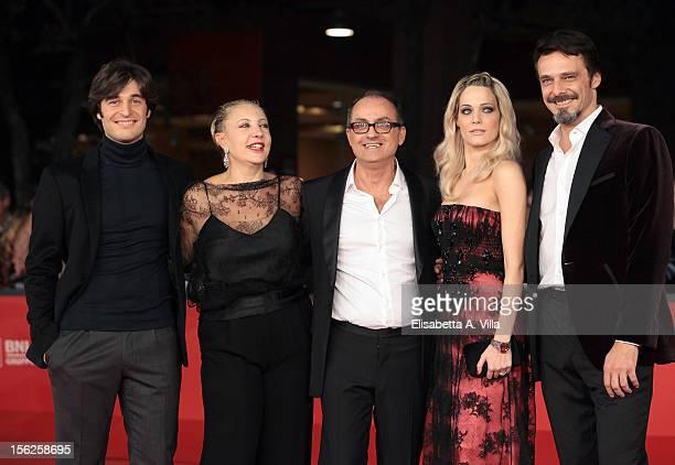 Actors Lino Guanciale and Iaia Forte director Pappi Corsicato and actors Laura Chiatti and Alessandro Preziosi attend the 'Il Volto Di Un'Altra'...