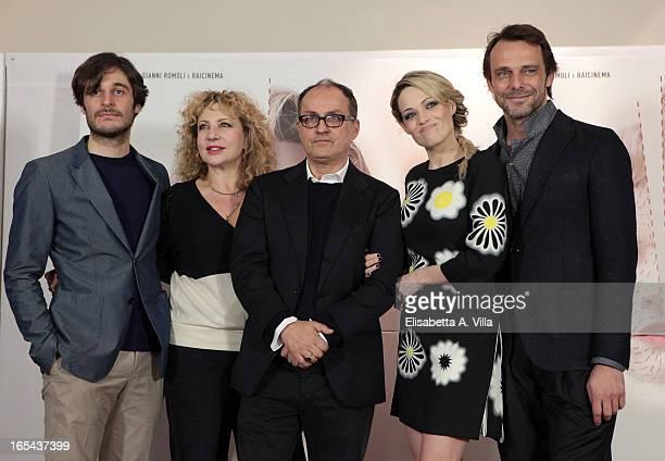 Actors Lino Guanciale Iaia Forte director Pappi Corsicato actors Laura Chiatti and Alessandro Preziosi attend 'Il Volto di un'Altra' at Cinema...