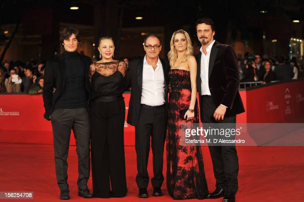 Actors Lino Guanciale Iaia Forte director Pappi Corsicato Laura Chiatti and Alessandro Preziosi attend the 'Il Volto Di Un'Altra' Premiere during the...