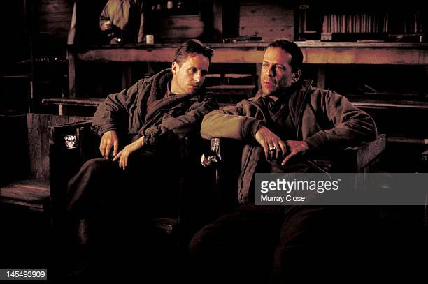 Actors Linus Roache and Bruce Willis in a scene from the film 'Hart's War' 2002