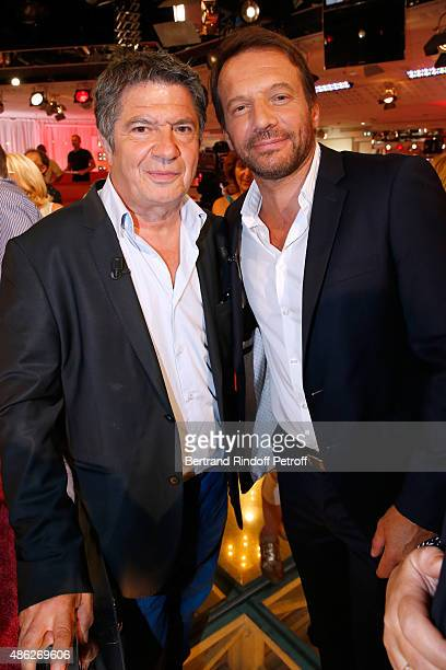 Actors Lionel Astier and Samuel Le Bihan present the France 2 TV Series 'Alex Hugo' during the 'Vivement Dimanche' French TV Show Held at Pavillon...