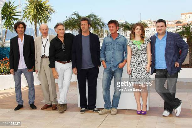 Actors Liron Levo Heinz Lieven Judd Hirsh director Paolo Sorrentino and actors Sean Penn Eve Hewson Simon Delaney attend the This Must Be The Place...
