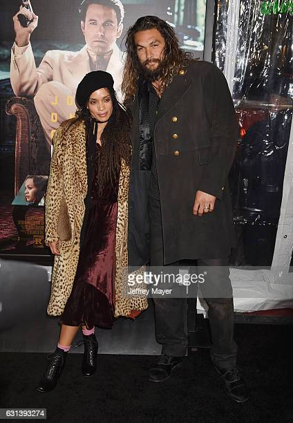 Actors Lisa Bonet and Jason Momoa arrive at the Premiere Of Warner Bros Pictures' 'Live By Night' at TCL Chinese Theatre on January 9 2017 in...