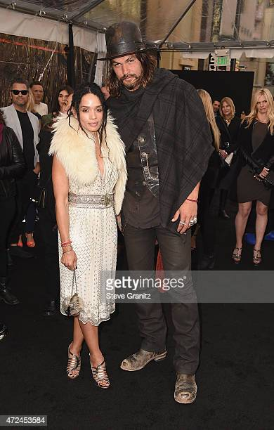 Actors Lisa Bonet and Jason Momoa attend the premiere of Warner Bros Pictures' Mad Max Fury Road at TCL Chinese Theatre on May 7 2015 in Hollywood...