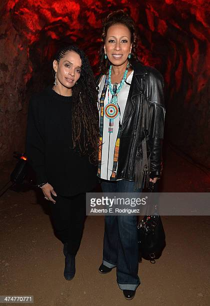 Actors Lisa Bonet and Tamara Tunie attend a screening of Sundance Channel's The Red Road at The Bronson Caves at Griffith Park on February 24 2014 in...