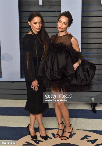 Actors Lisa Bonet and Zoe Kravitz attend the 2018 Vanity Fair Oscar Party hosted by Radhika Jones at Wallis Annenberg Center for the Performing Arts...