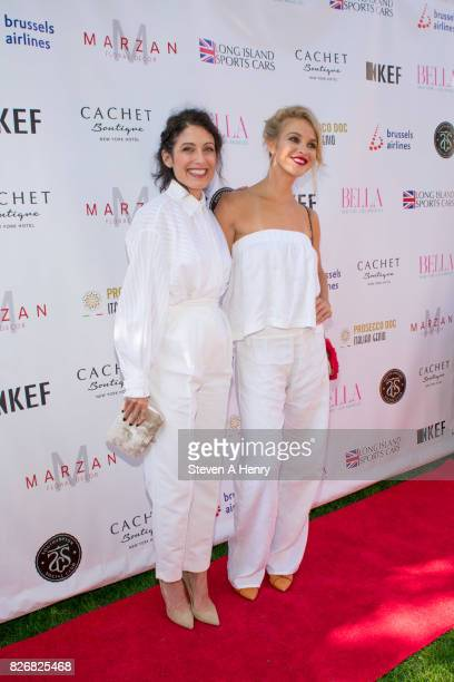 Actors Lisa Edelstein and Connor Dwelly attend BELLA New York's Fifth Annual Hamptons White Party at Southampton Social Club on August 5 2017 in...
