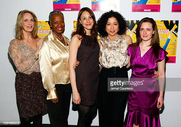 Actors Lisa Emery Aleta Mitchell Natalie Gold Mimi Lieber and Shana Dowdeswell attend the opening night of Distracted at the Roundabout Theatre...