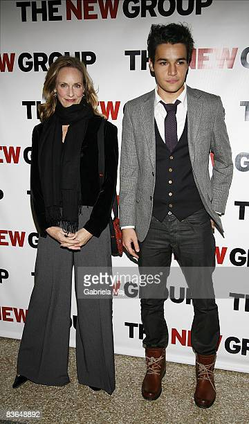 Actors Lisa Emery and Christopher Abbott attend the New Group's 2008 Gala at Pier 60, Chelsea Piers on November 10, 2008 in New York City.