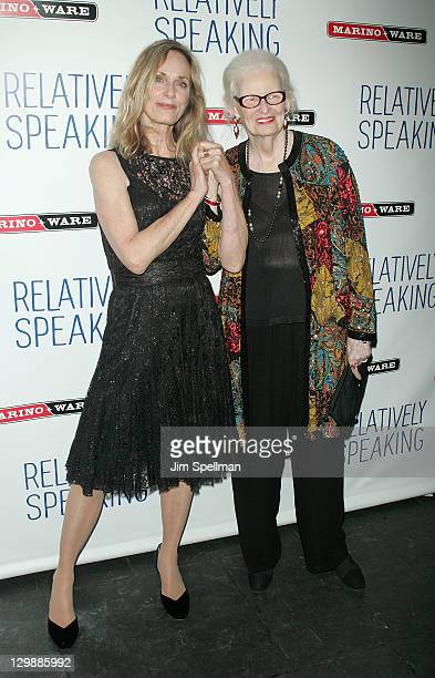 Actors Lisa Emery and Patricia O'Connell attends the Relatively Speaking opening night after party at the Brooks Atkinson Theatre on October 20 2011...
