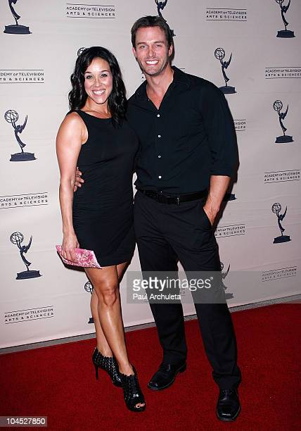 Actors Lisa Kouchak and Eric Martsolf arrives at the Academy Of Television's presentation to Celebrate 45 Years Of Days Of Our Lives at Leonard H...