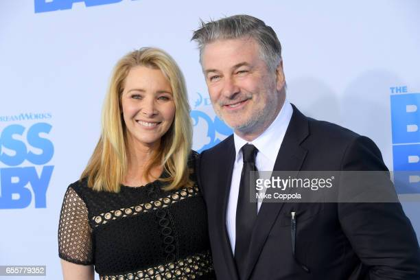Actors Lisa Kudrow and Alec Baldwin attend 'The Boss Baby' New York Premiere at AMC Loews Lincoln Square 13 theater on March 20 2017 in New York City
