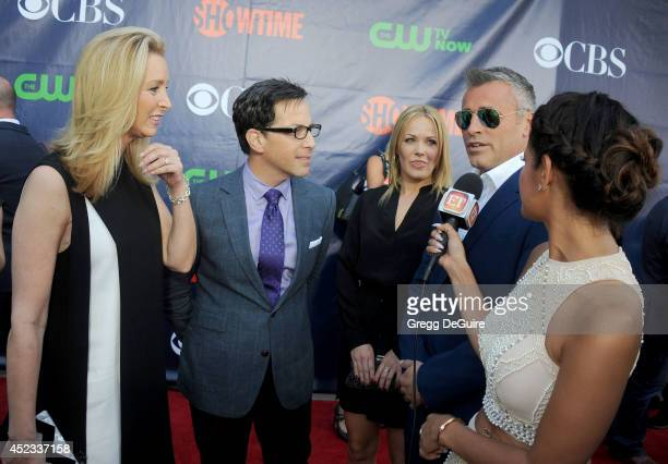 Actors Lisa Kudrow Dan Bucatinsky Matt LeBlanc and TV personality Rocsi Diaz arrive at the 2014 Television Critics Association Summer Press Tour CBS...