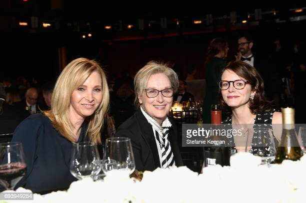 Actors Lisa Kudrow Meryl Streep and writer Anne Stringfield during American Film Institute's 45th Life Achievement Award Gala Tribute to Diane Keaton...