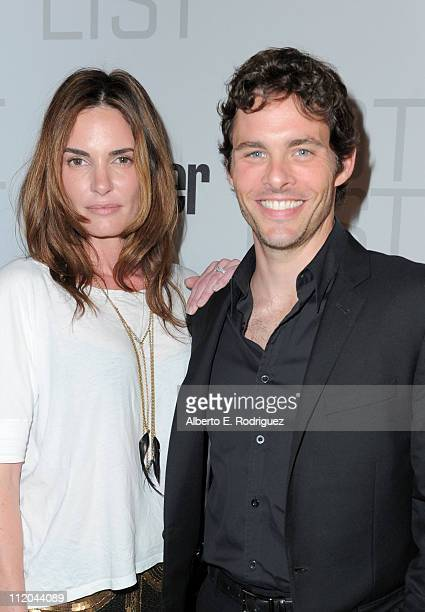Actors Lisa Linde and James Marsden arrive at the Conde Nast Traveler Annual Hot List party held at Soho House on April 11 2011 in West Hollywood...