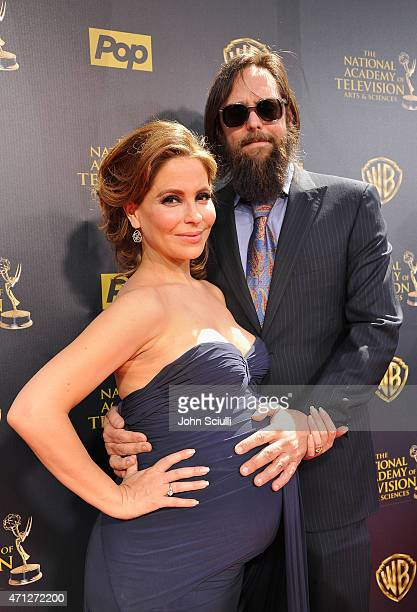 Actors Lisa LoCicero and Michael Patrick Jann attend The 42nd Annual Daytime Emmy Awards at Warner Bros Studios on April 26 2015 in Burbank California
