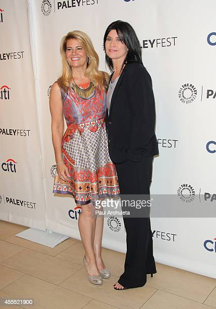"""Actors Lisa Whelchel and Nancy McKeon attend the 2014 PaleyFest Fall TV preview of """"The Facts Of Life"""" 35th anniversary reunion at The Paley Center..."""