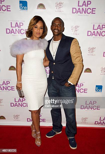 """Actors LisaRaye McCoy and Keith Robinson attend the Los Angeles Premiere of the film """"Lap Dance"""" at ArcLight Cinemas on December 8, 2014 in..."""