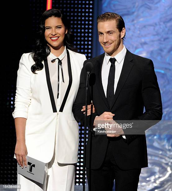 Actors Litzy and Eugenio Siller appear onstage at the Billboard Mexican Music Awards presented by State Farm on October 18 2012 in Los Angeles...
