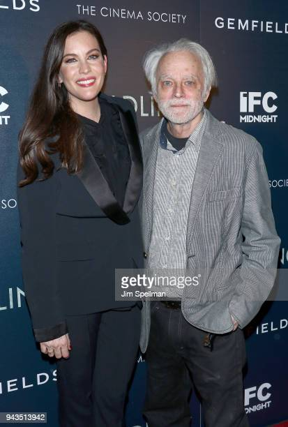 Actors Liv Tyler and Brad Dourif attend the screening of IFC Midnight's Wildling hosted by The Cinema Society and Gemfields at iPic Theater on April...