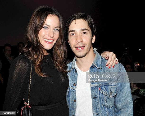 Actors Liv Tyler and Justin Long arrive Super Premiere held at Ryerson Theatre during the 35th Toronto International Film Festival on September 10...