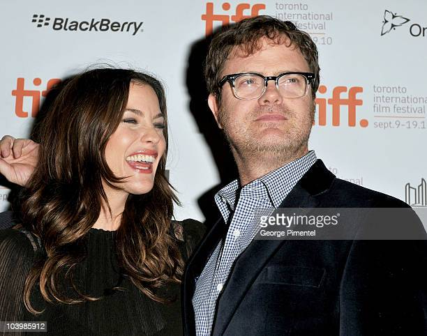 Actors Liv Tyler and Rainn Wilson arrive at the Super Premiere held at Ryerson Theatre during the 35th Toronto International Film Festival on...