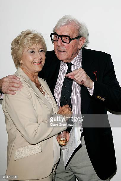 Actors Liz Fraser and Eric Sykes attend the 49th Variety Club Race Day at Sandown race course on September 1 2007 in London England The charity...