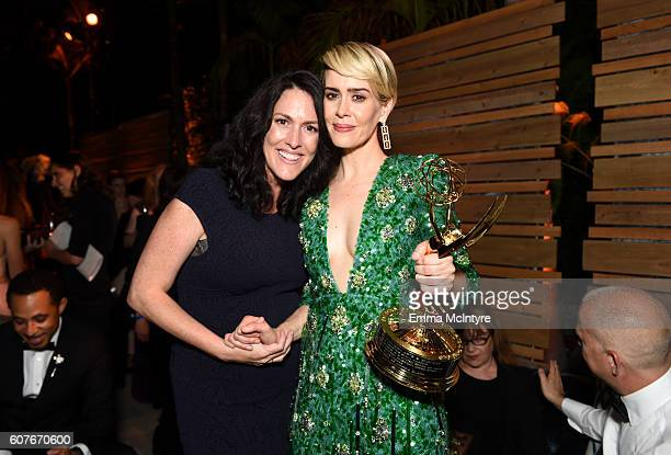 Actors Liz Paulson and Sarah Paulson attend the FOX Broadcasting Company FX National Geographic And Twentieth Century Fox Television's 68th Primetime...