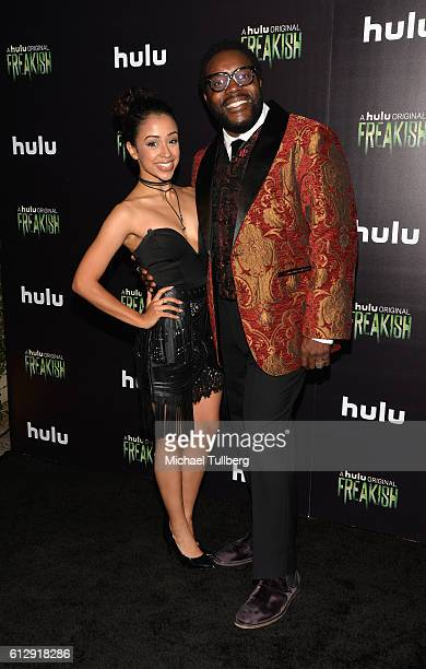 Actors Liza Koshy and Chad L Coleman attends the premiere of Hulu's 'Freakish' at Smogshoppe on October 5 2016 in Los Angeles California