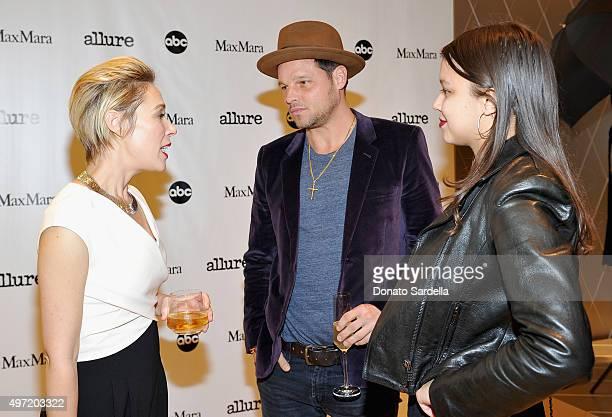 Actors Liza Weil wearing MaxMara and Justin Chambers and Isabella Chambers attend 'MaxMara Allure Celebrate ABC's #TGIT' at MaxMara on November 14...