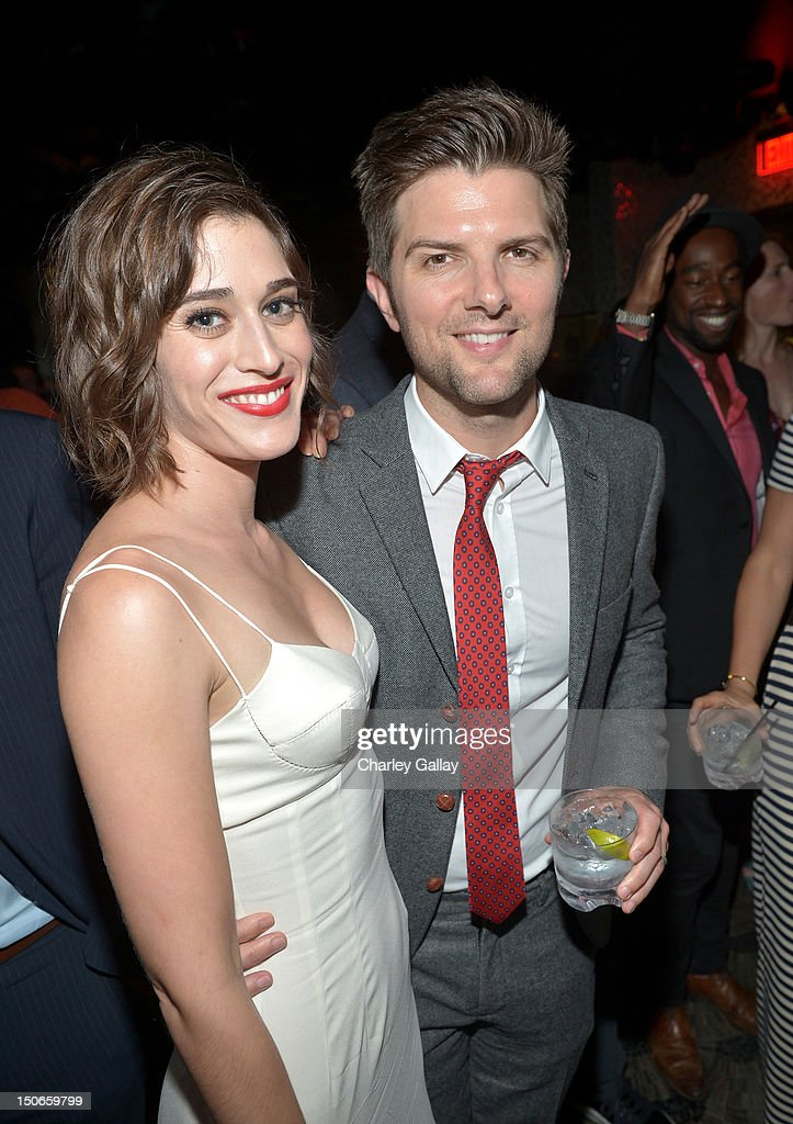 Actors Lizzy Caplan And Adam Scott Attend The After Party For Premiere Of RADiUS