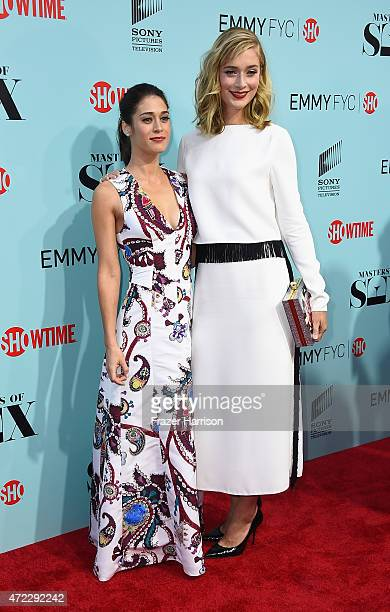 Actors Lizzy Caplan and Caitlin Fitzgerald attend the Screening Of Showtime And Sony Pictures Television's Masters Of Sex at Cary Grant Theater on...