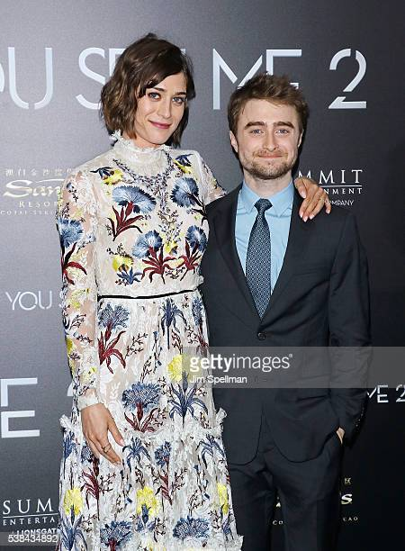 Actors Lizzy Caplan and Daniel Radcliffe attend the 'Now You See Me 2' world premiere at AMC Loews Lincoln Square 13 theater on June 6 2016 in New...