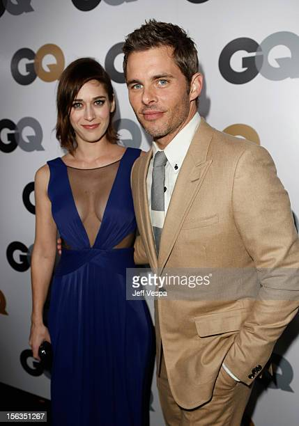 Actors Lizzy Caplan and James Marsden arrive at the GQ Men of the Year Party at Chateau Marmont on November 13 2012 in Los Angeles California