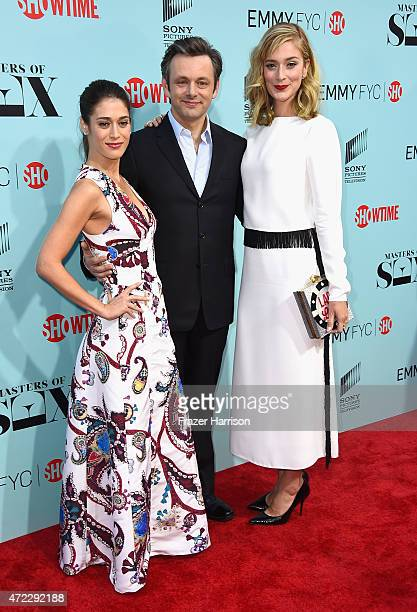 Actors Lizzy Caplan Michael Sheen and Caitlin Fitzgerald attend the Screening of Showtime and Sony Pictures Television's Masters Of Sex at Cary Grant...